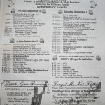 2012 Gingerbread Festival Schedule