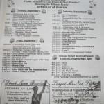 2012 Gingerbread Festival Schedule