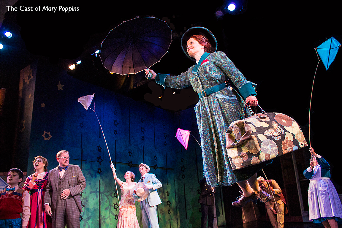 "Tricia Matthews and the cast of ""Mary Poppins"", Barter Theatre"